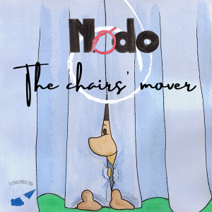 Cover of the book Nodo the chairs' mover_by Daniele Frau_Illustrations by DMQproductions.